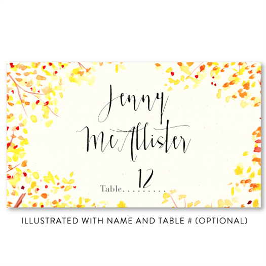 Fall Meadow - Place Card illustrated