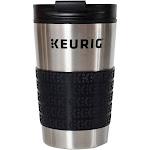 Keurig Stainless Steel Travel Mug, Silver/Black, 12 oz
