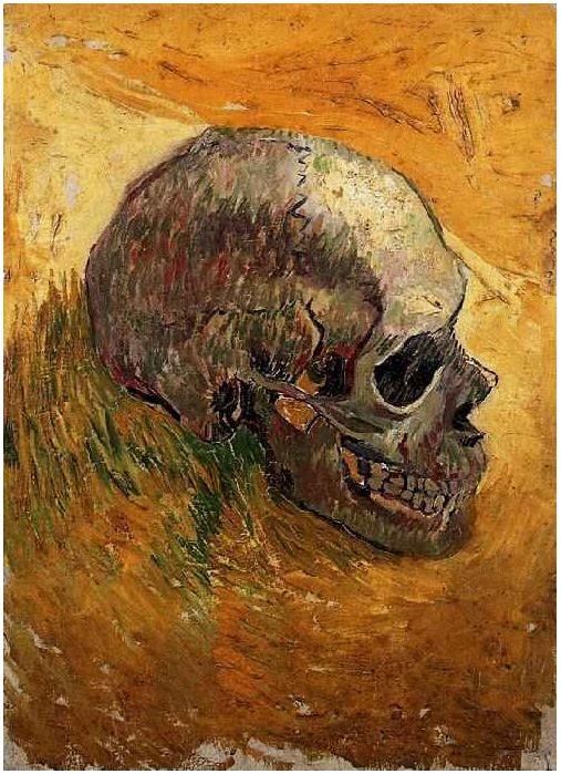 Vincent Van Gogh Skull Painting