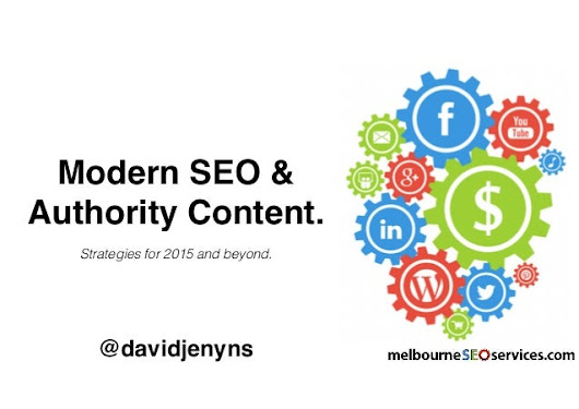 Modern SEO & Authority Content For 2015 Keynote.