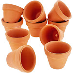 "10-Pack 1.5"" Terra Cotta Pots, Mini Small Terracotta Flower Clay Pots Planters for Plants, Ceramic Pottery Nursery Indoor Outdoor Garden Gardening for"