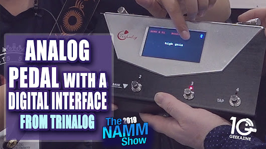 Trinalog Puts Analog Pedals into a Digital Interface | Geekazine.com