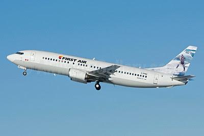 First Air Boeing 737-406 C-FFNC (msn 27232) (Native Hunter) YUL (Gilbert Hechema). Image: 921892.