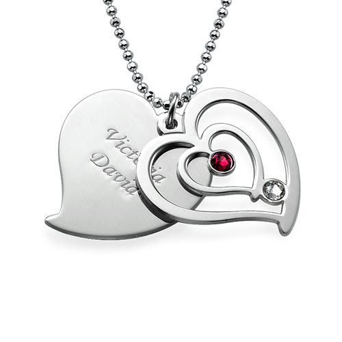 Must Have Product of the Week: Personalized Couples Birthstone Heart Necklace