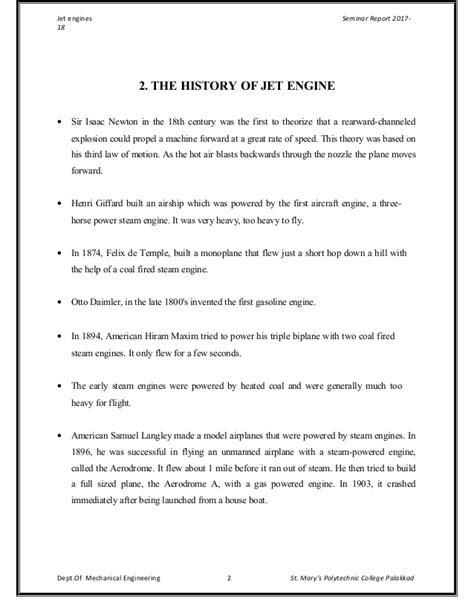 Jet engine seminar report