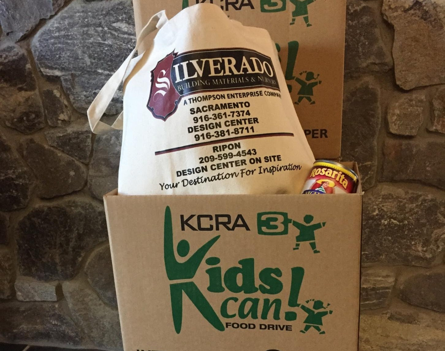 Silverado Building Materials Kids Can Can Food Drive With Kcra 3