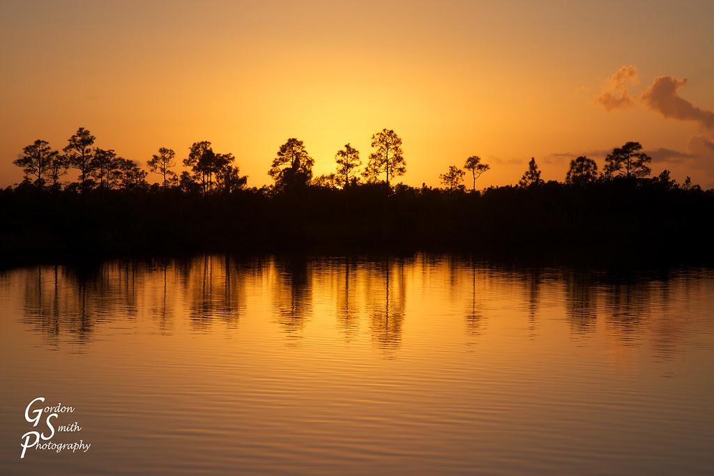 everglades sunset florida