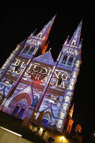 Vivid Sydney 2010 - St Mary's Cathedral