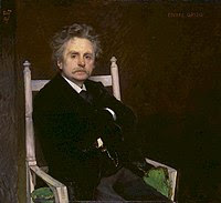 Edvard Grieg, 1891 painting by Eilif Peterssen...