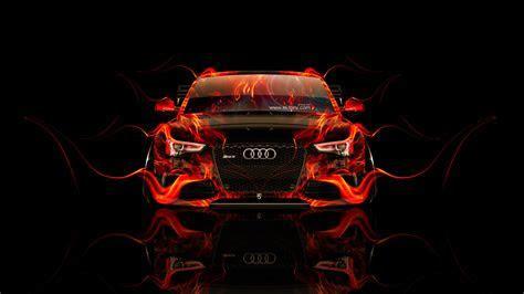 Audi RS5 Tuning Front Fire Car 2014   el Tony