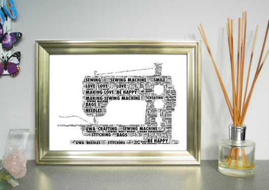 Sewing Personalised Word Art Print. FREE UK P&P. Word Cloud | Etsy
