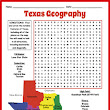 Texas Geography Word Search Puzzle
