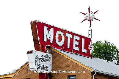 Bel Aire Manor Motel Signs, Springfield, Illinois