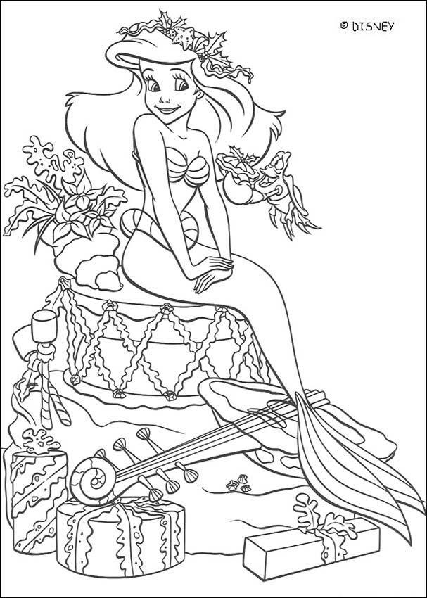 Dibujos Para Colorear La Sirenita Para Imprimir Eshellokidscom