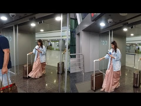 Telugu Actress Samantha Akkineni Looking Beautiful at Tirupati Airport