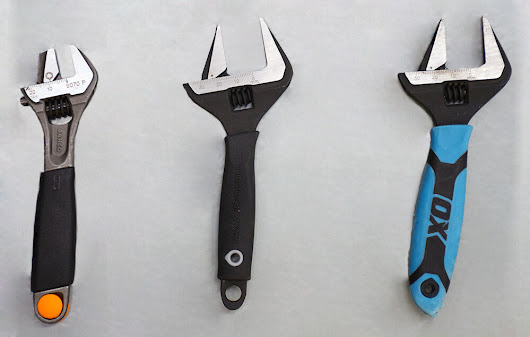 Adjustable Spanner Tool Comparison: Monument, Ox and Bahco