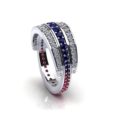 Ruby Sapphire Diamond Ring   Jewelry Designs