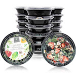 20-Pack Disposable Meal Prep Bento Lunch Box Containers Set, Bpa Free, Microwave Safe, 22 Ounces