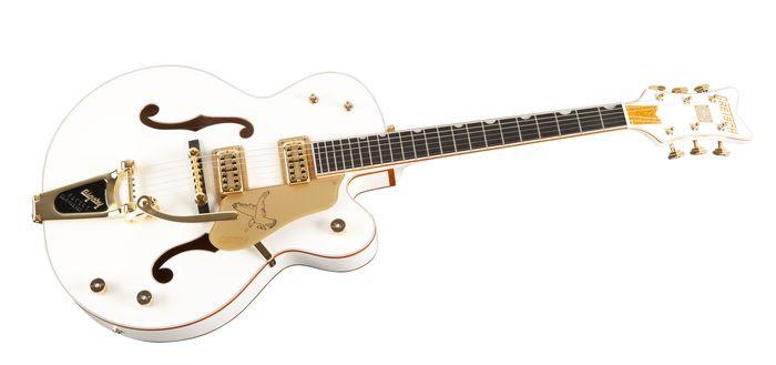Gretsch White Falcon hollow body guitar