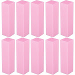 Zodaca 10pcs Pack Nail Art Sanding Files Buffer Block Toe Separator Manicure Pedicure Tools UV Gel Set, Size: Buffer Sanding Blocks, Pink