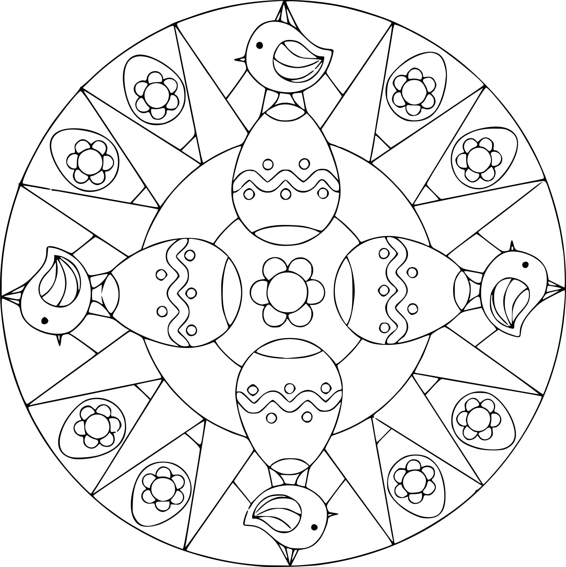 Coloriage Mandala Oeuf De Paques.Haut Coloriage Oeuf De Paques Mandala Coloriage A Imprimer