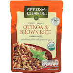 Seeds of Change Microwavable Quinoa and Brown Rice with Garlic, 8.5-Ounce - PACK OF 36