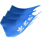 Adidas Originals Three Pack Face Masks Blue