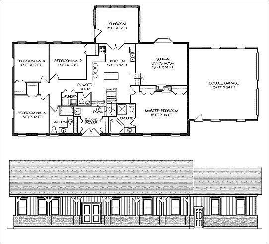 Garage Plans Blueprints 26 X 36 3 Car Traditional: 36x48 Barn Plans