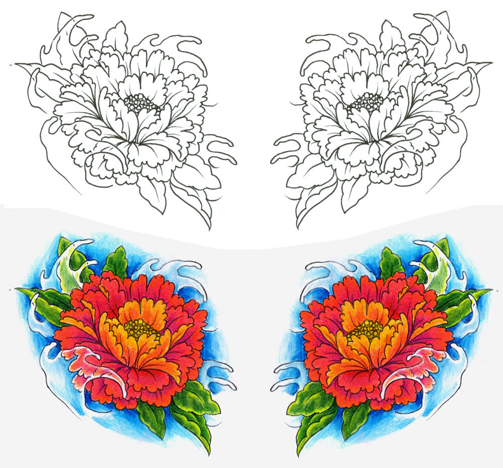 Peony Tattoo Drawing At Getdrawingscom Free For Personal Use