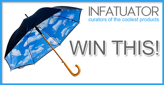 Win an Awesome Designer Umbrella with Perfect Day Sky Print Inside