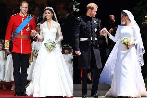 Meghan Markle's Royal Wedding Dress Compared To Kate