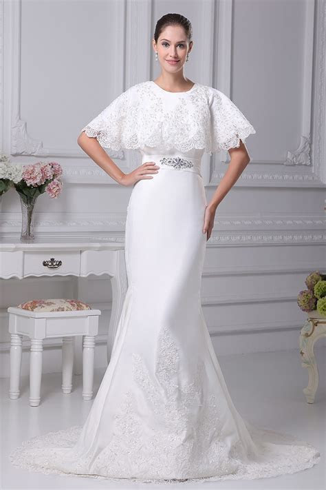 Charming Lace Mermaid Long Wedding Dress with Lace Top #