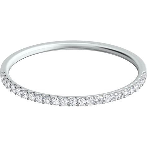 Sasha Primak Platinum 1/10 Ctw Round Diamond Wedding Band
