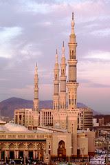 Minarets at Dawn - Medina, Saudi Arabia