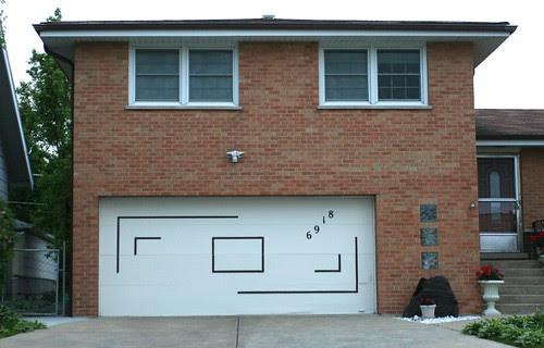 Midcentury garage door