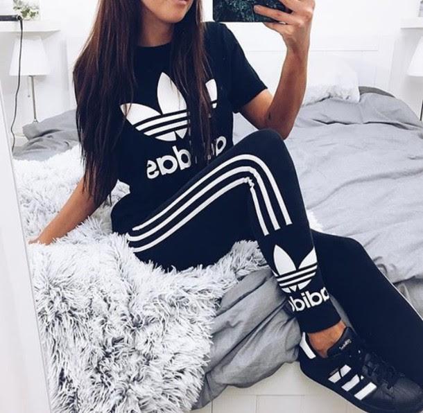 jumpsuit leggings shirt adidas adidas shirt cute hot