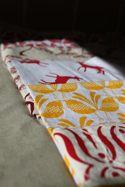 Tequila Sunrise linen quilt
