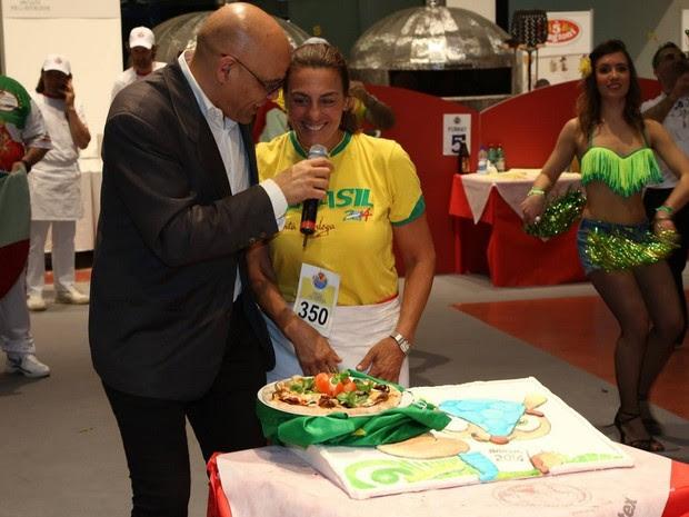 Grazia representou o Brasil no campeonato mundial na Itália (Foto: Arquivo pessoal)