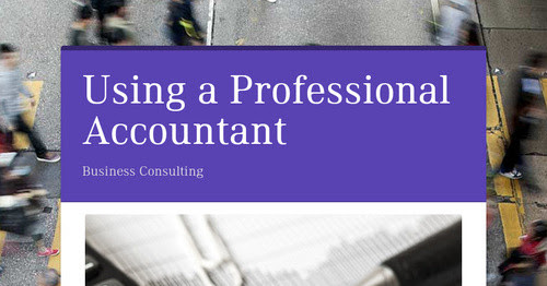 Using a Professional Accountant
