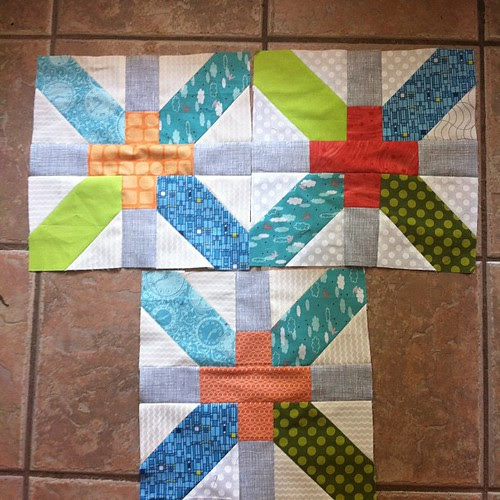And...I'm no longer delinquent! X and plus blocks for do. Good Stitches.