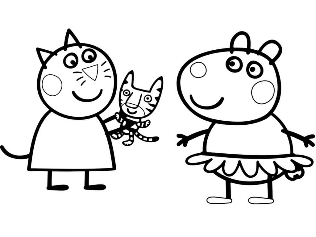 Peppa Coloring Pages At Getdrawingscom Free For Personal Use