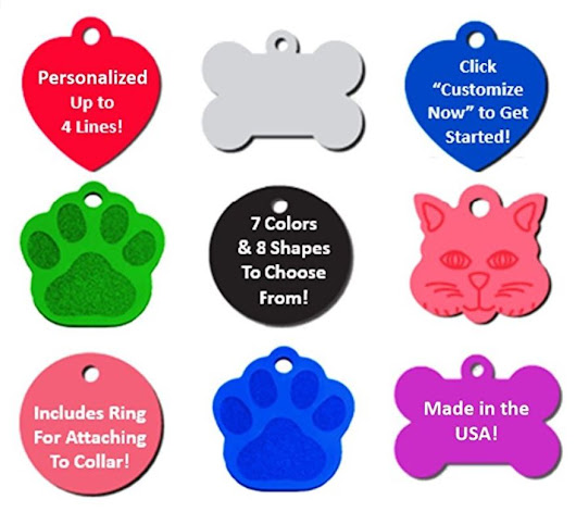 Pet ID Customized Tags for Dogs and Cats $2.75 Shipped - STL Mommy