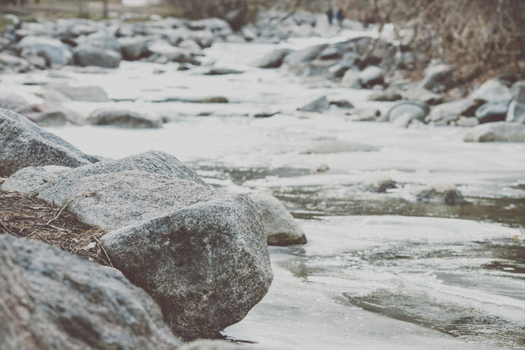 Photo of large boulder in boulder creek eben g fine park