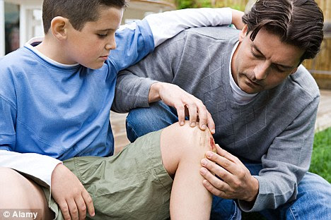 Cure: The best remedy for a grazed knee in the playground in soap and water according to a new study
