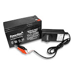 PowerStar 12Volt 7.5AH 7Ah Sealed Lead Acid Battery and Charger Combo