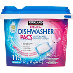 Kirkland Signature Premium Dishwasher Pacs 115-count - Lemon Citrus