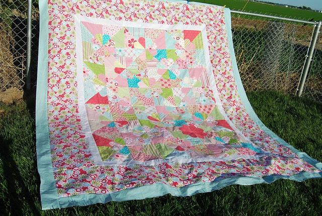 Niece's big girl bed quilt