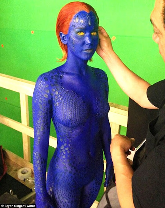 Mystique Cosplay from Liquidlatexonline.com