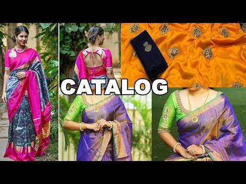 Latest Bathukamma 50 Awesome Types of Silk Sarees With Blouse Peace Models Collection 2018