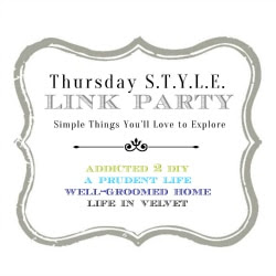 Thursday STYLE Link Party - A Prudent Life